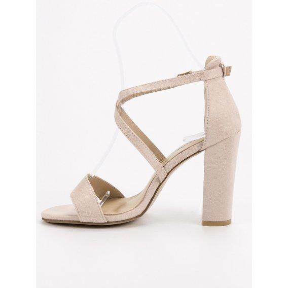 Elegantné béžové sandále