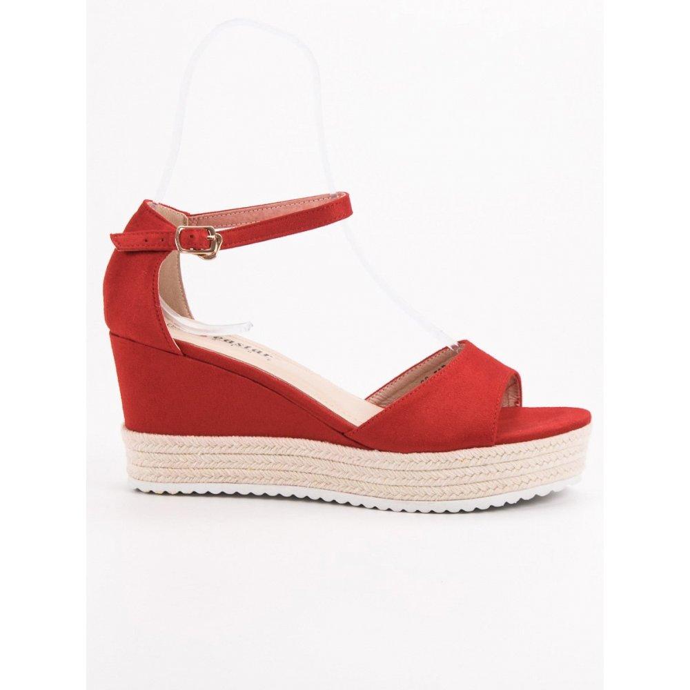 bd8998d2430b Červené sandále na kline - RIOtopánky.sk