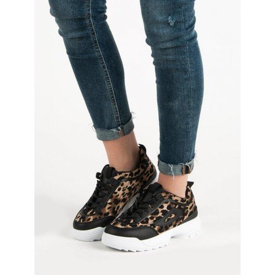 Čierne sneakersy so zvieracou potlačou