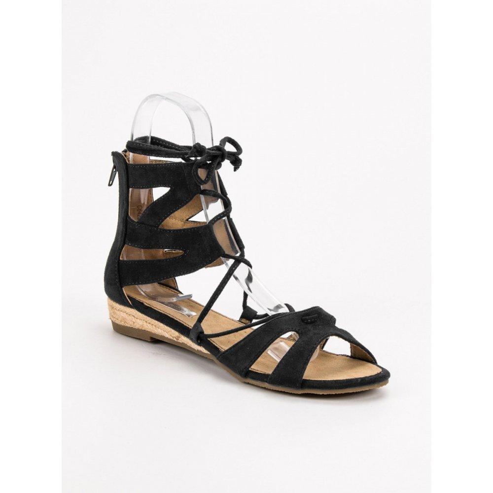 e399517c1787 Čierne sandále gladiátorky - RIOtopánky.sk