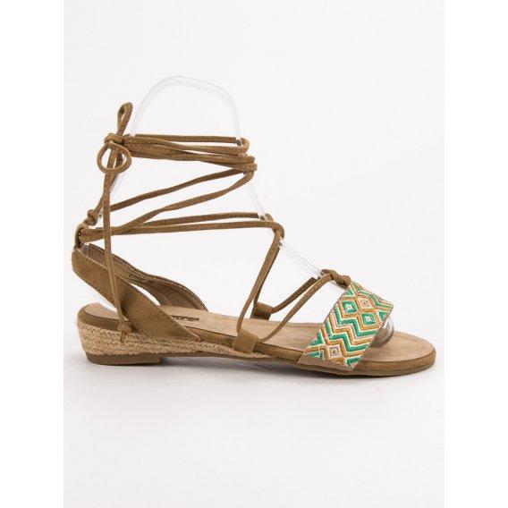 Viazané sandále