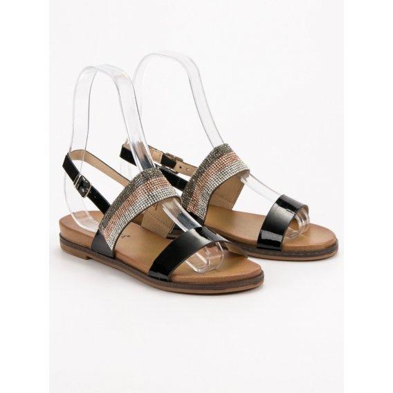 Sandále s kryštálmi Vinceza