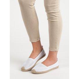 Biele textilné espadrilky