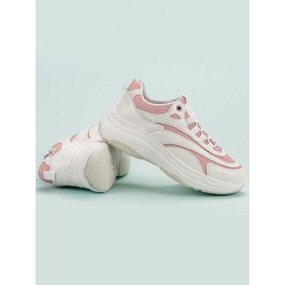 Biele a ružové sneakersy