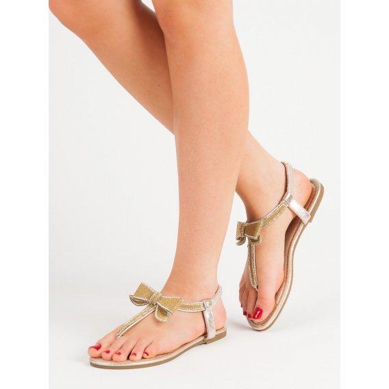 Sandále žabky s mašľou