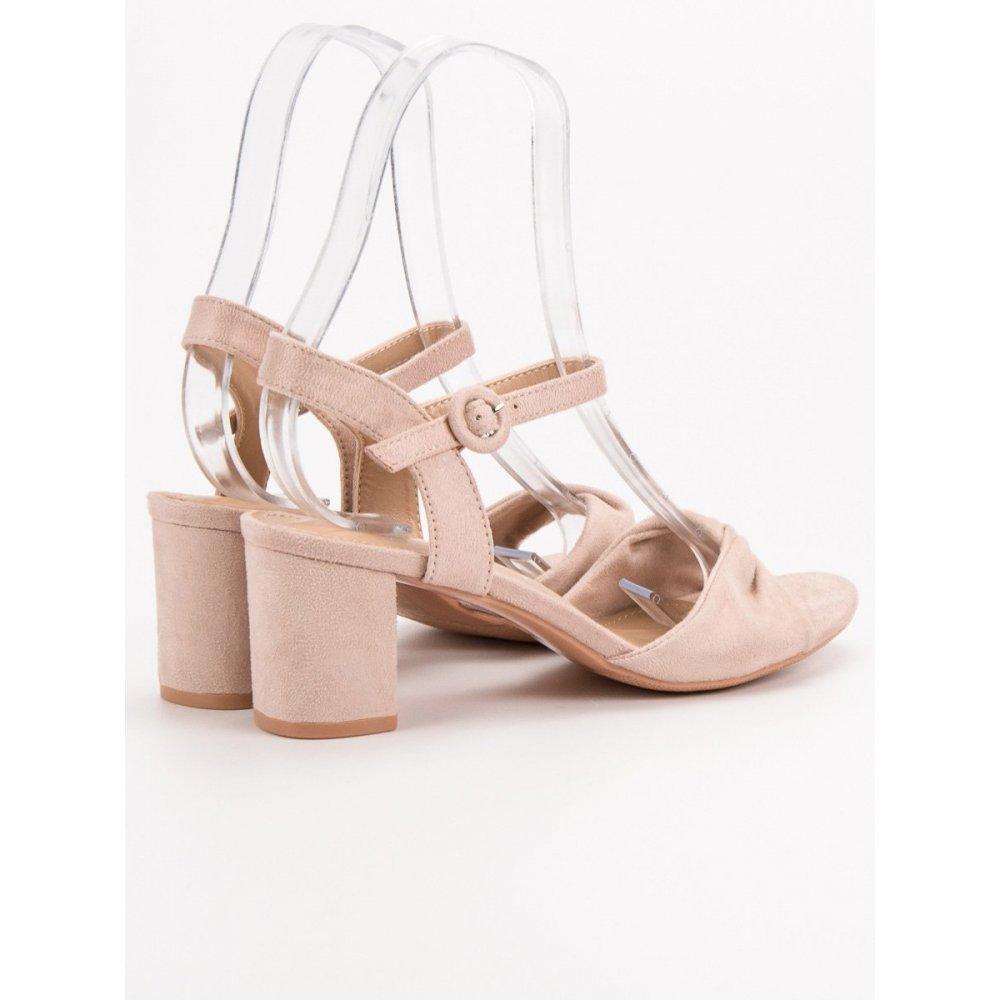 02ee9f85affe Elegantné ružové sandále - RIOtopánky.sk