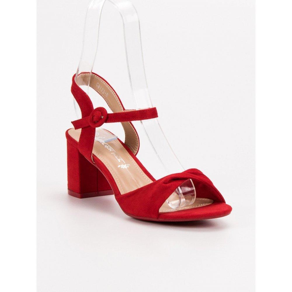 b52367d93148 Elegantné červené sandále - RIOtopánky.sk