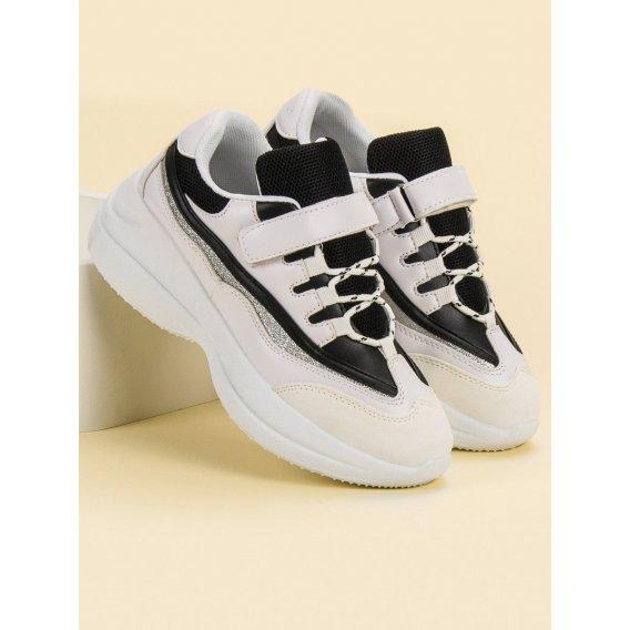 Módne bielo-čierne sneakersy
