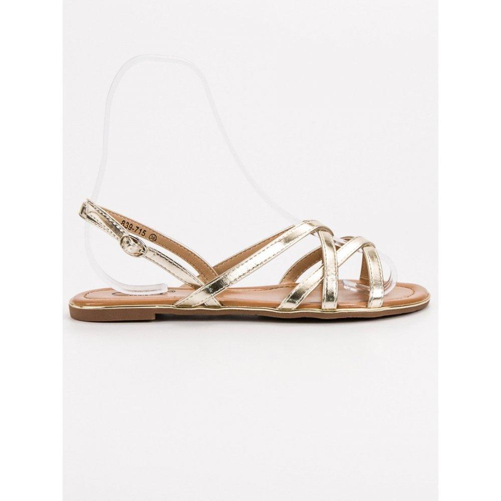 e2fcc6f11f16 Zlaté sandále - RIOtopánky.sk