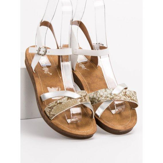 Módne ploché sandále
