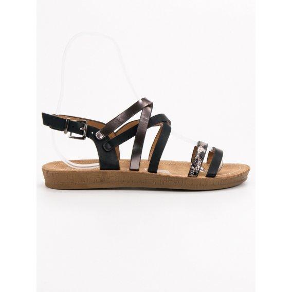 Módne čierne sandálky