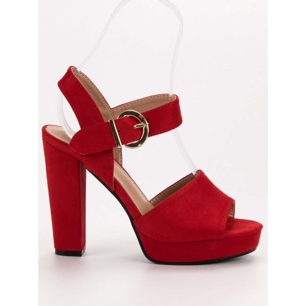 83dbd9eaf0 Červené sandále na platforme - RIOtopánky.sk