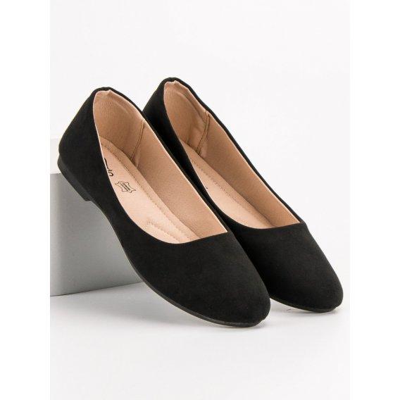 Čierne semišové baleríny