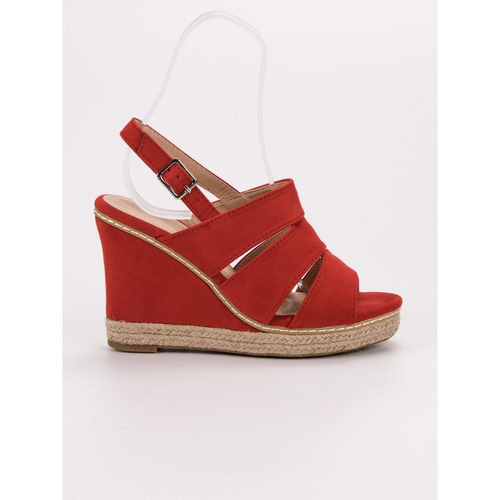 e63d412e3a26 Červené sandálky - RIOtopánky.sk