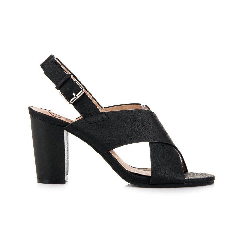 0527e17464526 Čierne sandále na podpätku - RIOtopánky.sk