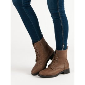 Hnedé zateplené topánky