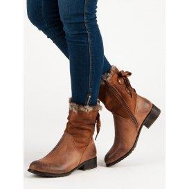Hnedé topánky s mašľou