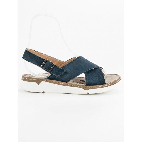 Kožené sandále na platforme