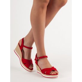 Módne červené sandále