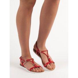 Červené sandále