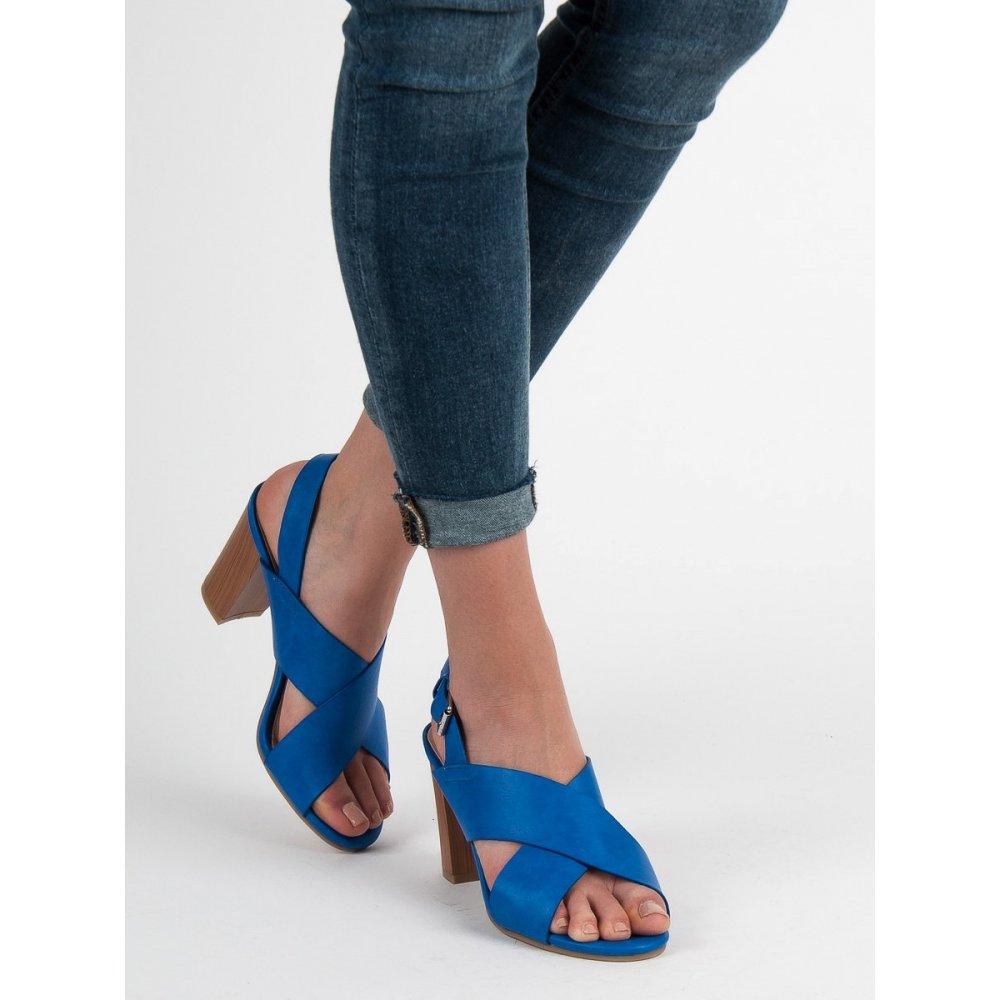 af3919653 Modré sandále na podpätku - RIOtopánky.sk
