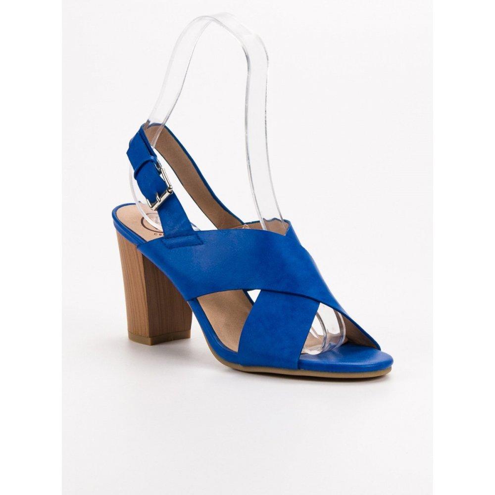 978d37c1b502 Modré sandále na podpätku - RIOtopánky.sk