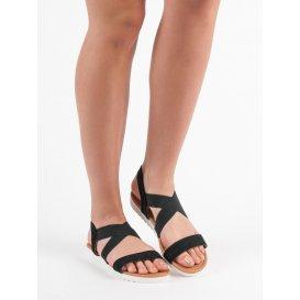 Strieborné sandále s gumičkou