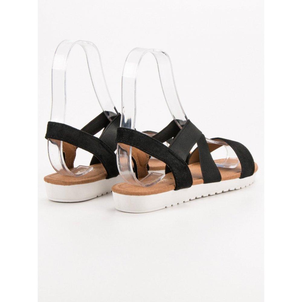 45485a2d79 Strieborné sandále s gumičkou - RIOtopánky.sk