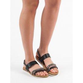 Sandálky s kryštálmi