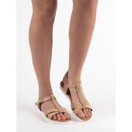 Klasické semišové sandálky