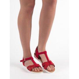 Klasické semišové sandále