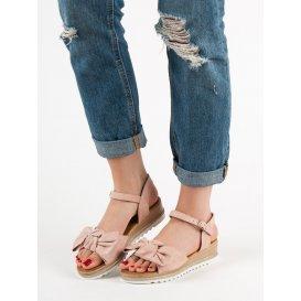 Sandále s mašlami