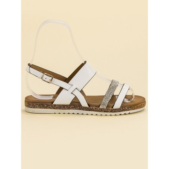 Sandále s kryštálmi