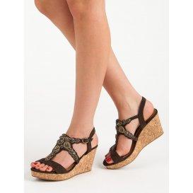 Sandále na korkovom kline