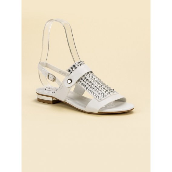 Biele dámske sandále