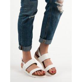 Biele ploché sandále