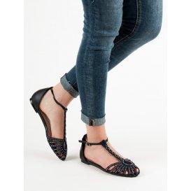 Módne sandále s kryštálmi