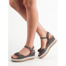Semišové sandálky espadrilky