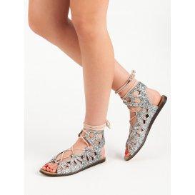Brokátové sandále