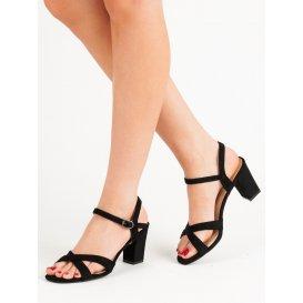 Semišové sandále na stĺpci