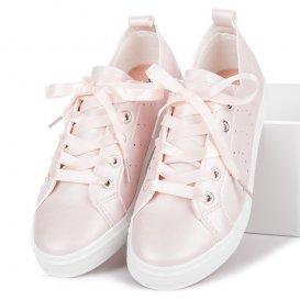 Ružové tenisky viazané stužkou K1832101RO