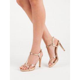 2ad9ee8cbaf1 Zlaté sandále na podpätku McKeylor