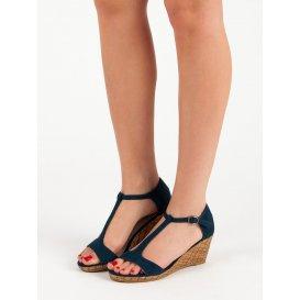 Tmavomodré sandále na kline