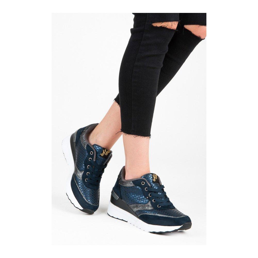 70a0e72b96 Tmavo modré topánky so vzorom - RIOtopánky.sk