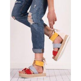 Viacfarebné sandále