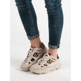Béžové sneakersy so zvieracou potlačou