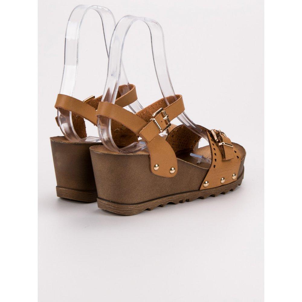 99e5ccab569df Hnedé sandále na kline - RIOtopánky.sk
