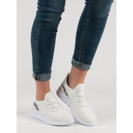 Biele textilné športové topánky