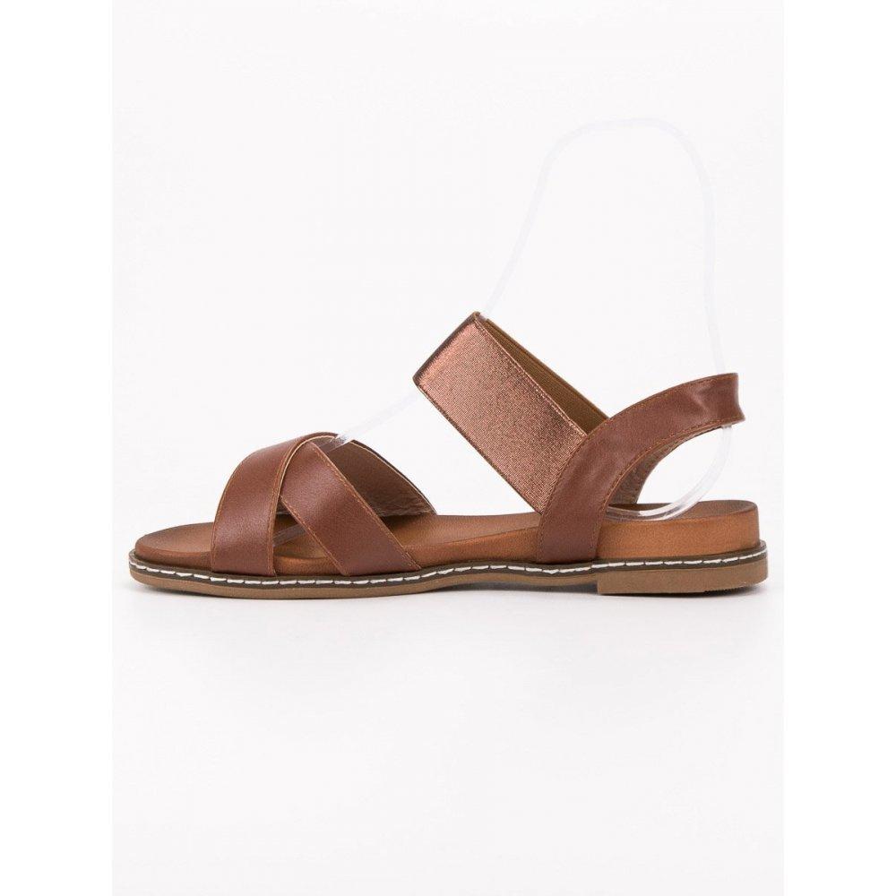 4743d2a6cc036 Hnedé sandále s gumičkou - RIOtopánky.sk