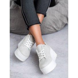 Šedé topánky na platforme